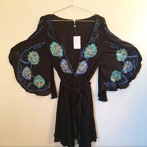 NWT Free People Cora Embroidered Minidress